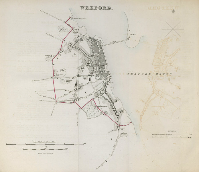 Associate Product WEXFORD town/borough plan. REFORM ACT. Leinster 1832 old antique map chart