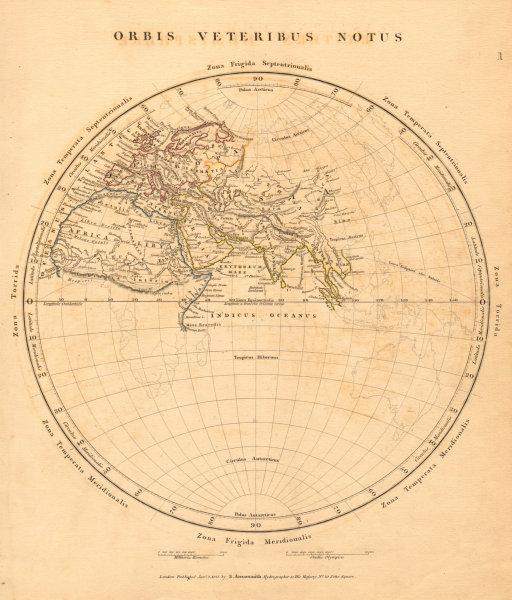 Associate Product ANCIENT WORLD. Orbis Veteribus Notus. Europe Africa Asia. ARROWSMITH 1828 map