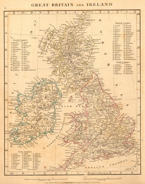 Associate Product GREAT BRITAIN & IRELAND. British Isles. Roman Roads. ARROWSMITH 1828 old map