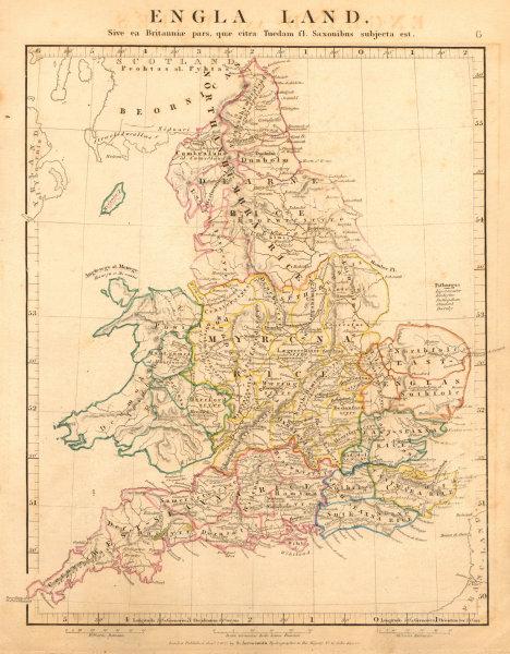 Associate Product ENGLA LAND. SAXON BRITAIN England Wales. Old English names. ARROWSMITH 1828 map