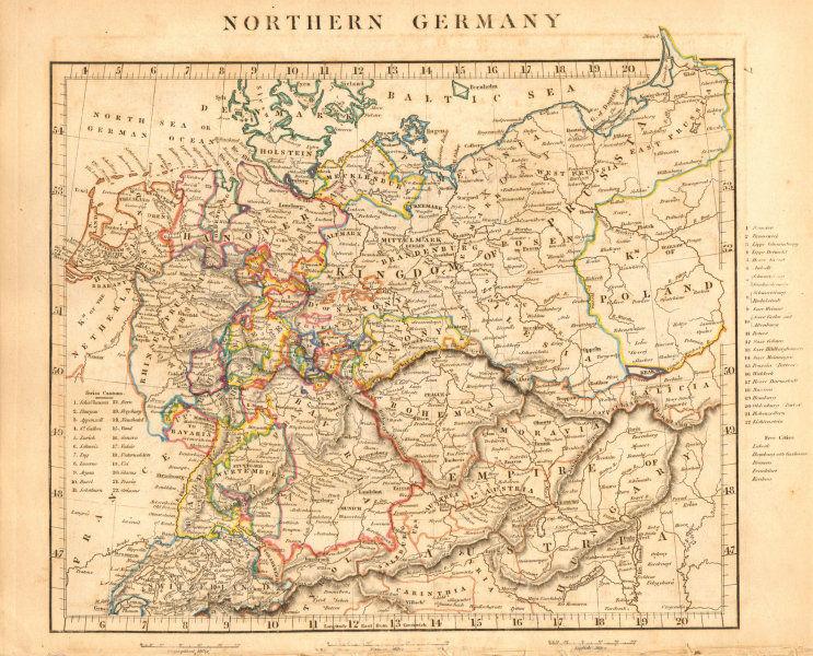 Associate Product NORTHERN GERMANY. States. Switzerland Austria Czechia. ARROWSMITH 1828 old map