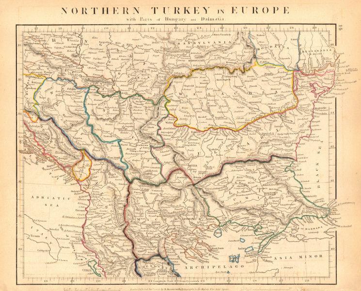 Associate Product BALKANS. Northern Turkey In Europe. Rumilia Wallachia. ARROWSMITH 1828 old map