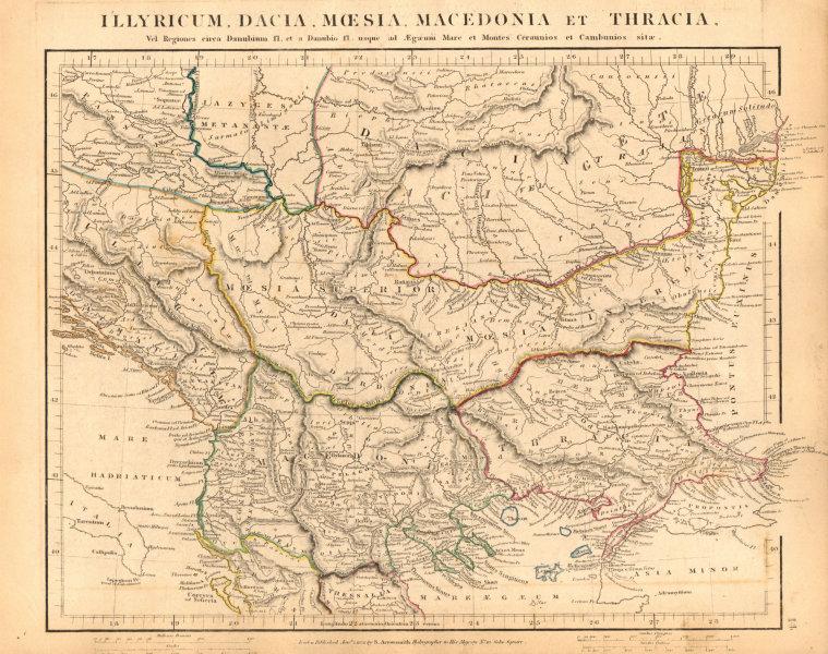 Associate Product ANCIENT ROMAN BALKANS. Illyricum Dacia Moesia Macedonia. ARROWSMITH 1828 map