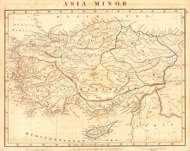 Associate Product ASIA MINOR. Turkey. Anadolia Karamania Anatolia. ARROWSMITH 1828 old map