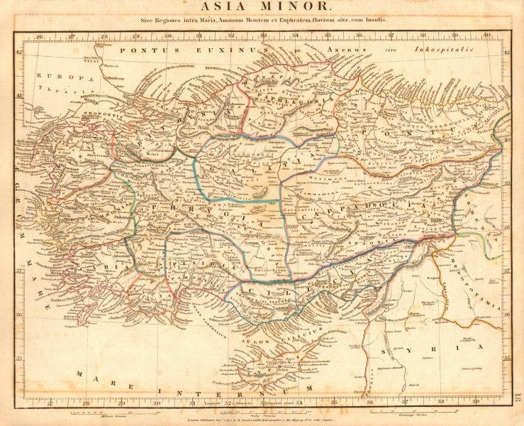 Associate Product ANCIENT ASIA MINOR. Galatia Cappadocia Phrygia Bithynia. ARROWSMITH 1828 map