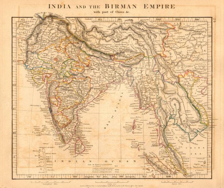 Associate Product INDIA & THE BIRMAN EMPIRE. Burma Indochina Hindoostan Siam. ARROWSMITH 1828 map