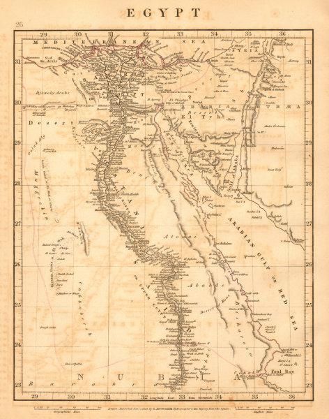 Associate Product EGYPT & Nubia. Nile Valley. Red Sea. Bahri Vostani Sinai. ARROWSMITH 1828 map