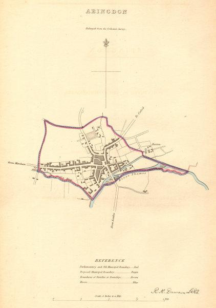 Associate Product ABINGDON borough/town plan. BOUNDARY COMMISSION. Oxfordshire. DAWSON 1837 map