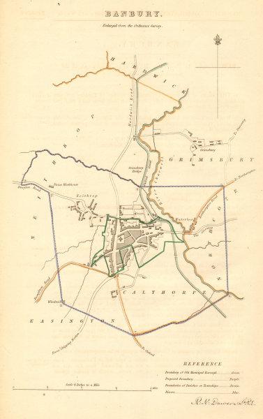 Associate Product BANBURY borough/town plan. BOUNDARY COMMISSION. Oxfordshire. DAWSON 1837 map