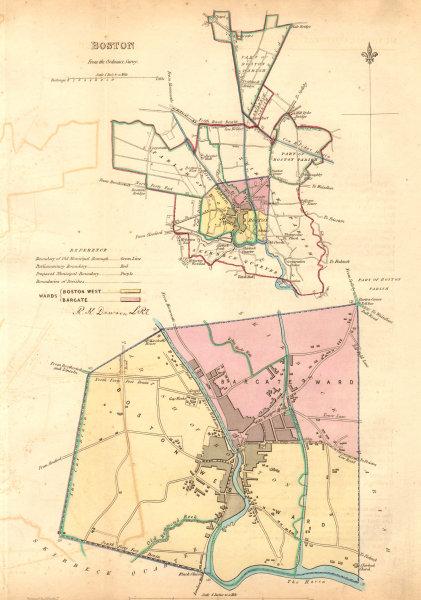 Associate Product BOSTON borough/town plan. BOUNDARY COMMISSION. Lincolnshire. DAWSON 1837 map