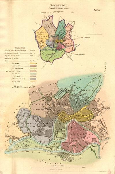 Associate Product BRISTOL borough/town/city plan. Plate 2. BOUNDARY COMMISSION. DAWSON 1837 map