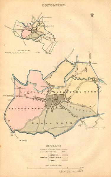 Associate Product CONGLETON borough/town plan. BOUNDARY COMMISSION. Cheshire. DAWSON 1837 map