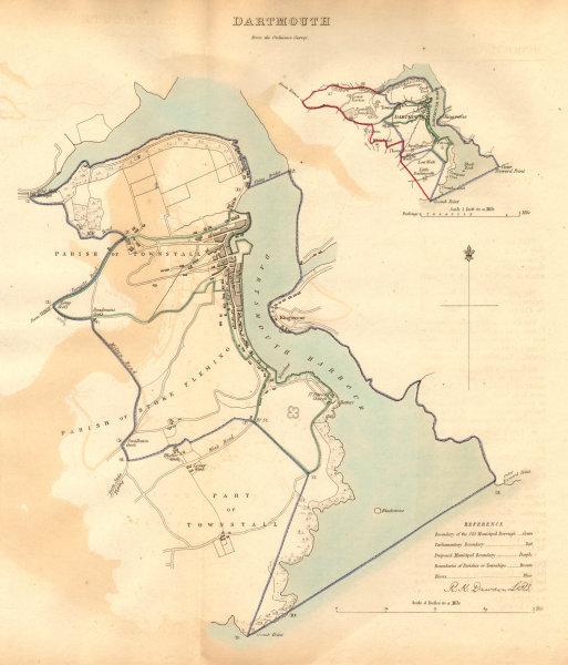 Associate Product DARTMOUTH borough/town plan. BOUNDARY COMMISSION. Devon. DAWSON 1837 old map
