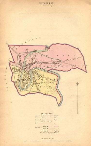 Associate Product DURHAM borough/town/city plan. BOUNDARY COMMISSION. Durham. DAWSON 1837 map