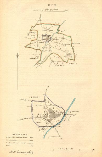 Associate Product EYE borough/town plan BOUNDARY COMMISSION Yaxley Occold Suffolk DAWSON 1837 map