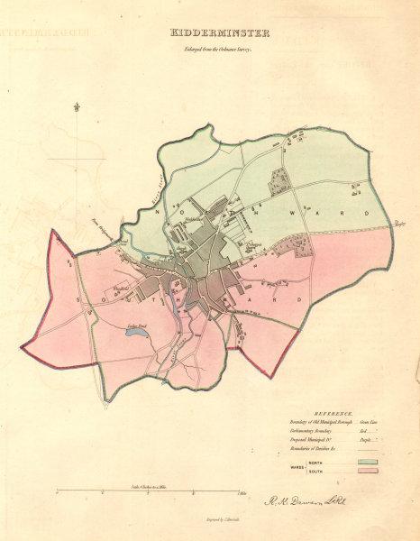 Associate Product KIDDERMINSTER borough/town plan. BOUNDARY COMMISSION. Worcs. DAWSON 1837 map
