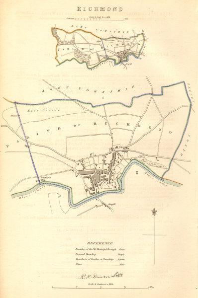 Associate Product RICHMOND borough/town/city plan. BOUNDARY COMMISSION. Yorkshire. DAWSON 1837 map