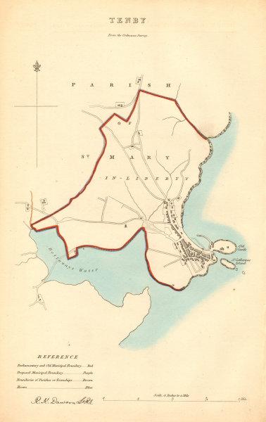Associate Product TENBY borough/town plan. BOUNDARY COMMISSION. Pembrokeshire. DAWSON 1837 map