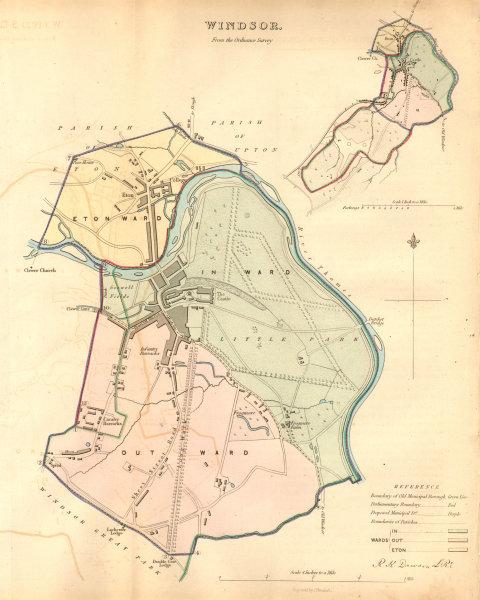 Associate Product WINDSOR borough/town plan. BOUNDARY COMMISSION. Eton Berkshire. DAWSON 1837 map