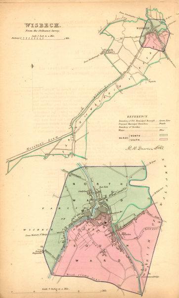 Associate Product WISBECH borough/town plan. BOUNDARY COMMISSION. Cambridgeshire. DAWSON 1837 map