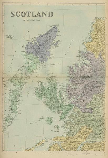 SCOTLAND (North West) Hebrides Skye Uist Harris Lewis GW BACON 1883 old map