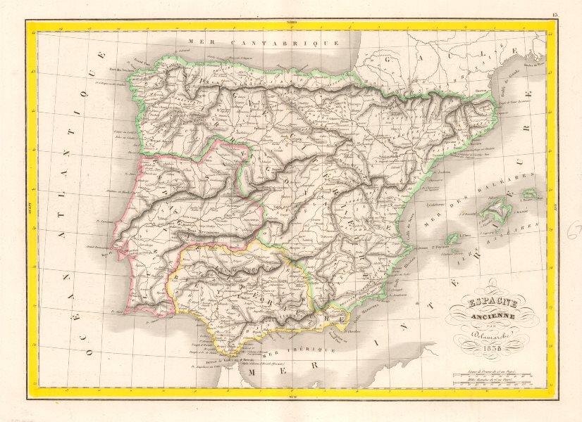 Associate Product 'Espagne Ancienne' DELAMARCHE. Ancient Spain Portugal Baetica Lusitania 1838 map