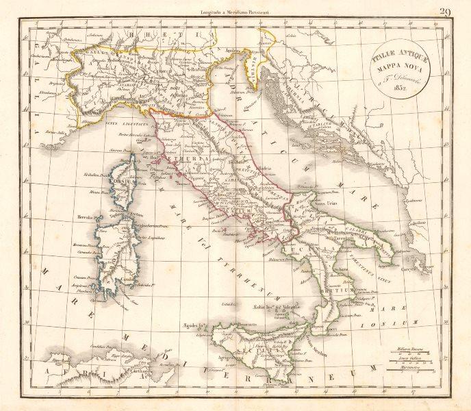 Associate Product 'Italiae Antiquae Mappa Nova' by Felix Delamarche. Ancient Italy 1832 old