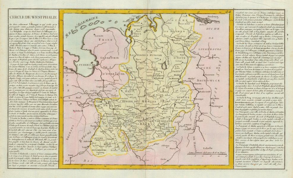Associate Product 'Cercle de Westphalie' by J-B.L. Clouet. Westphalia Westfalia 1787 old map