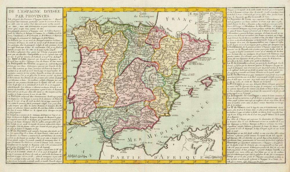 Associate Product 'De L'Espagne Divisée par Provinces' by J-B.L. Clouet. Spain Iberia 1787 map