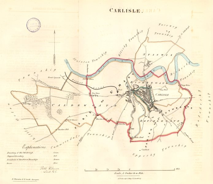 Associate Product CARLISLE borough/town/city plan. REFORM ACT. Cumbria. DAWSON 1832 old map