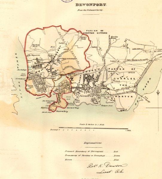 Associate Product DEVONPORT & PLYMOUTH borough/town plan. REFORM ACT. Devon. DAWSON 1832 old map