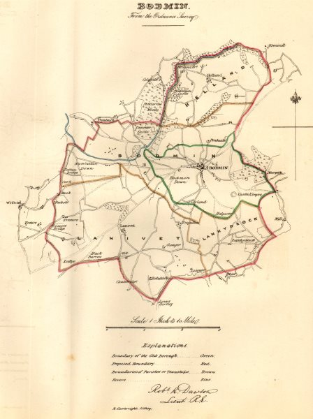 Associate Product BODMIN borough/town plan. REFORM ACT. Cornwall. DAWSON 1832 old antique map