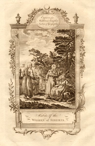 """Associate Product """"Habits of the women of Siberia"""". Russian costume dress. MIDDLETON 1779 print"""