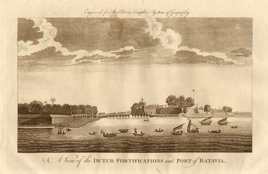 """Associate Product """"The Dutch fortifications & port of Batavia"""". Jakarta, Indonesia. MIDDLETON 1779"""