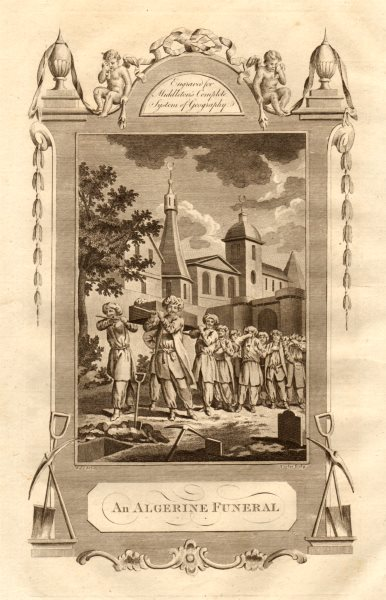 """An Algerine funeral"". Algeria. MIDDLETON 1779 old antique print picture"