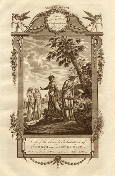 "Associate Product ""Females… of Whidah on the Gold Coast"". Whydah Benin. MIDDLETON 1779 print"