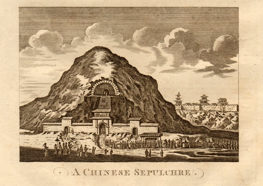 """Associate Product """"A Chinese sepulchre"""". Han shrine. China. MIDDLETON 1779 old antique print"""