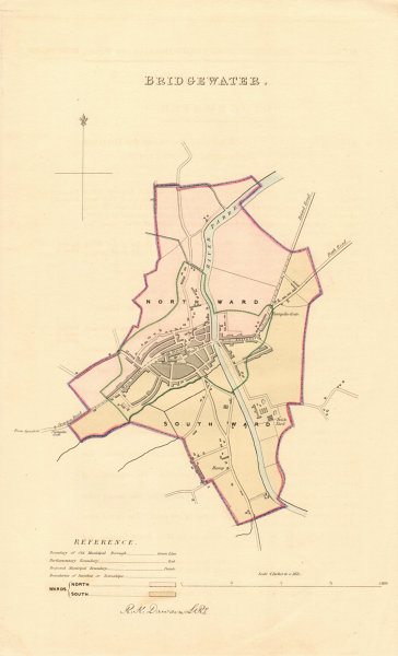 Associate Product BRIDGWATER borough/town plan. BOUNDARY REVIEW. Somerset. DAWSON 1837 old map