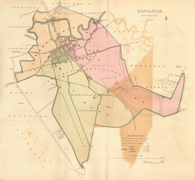 Associate Product DONCASTER borough/town plan. BOUNDARY REVIEW. Yorkshire. DAWSON 1837 old map