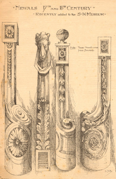 Associate Product Newals 17th & 18th century. Victoria & Albert Museum. London 1899 old print