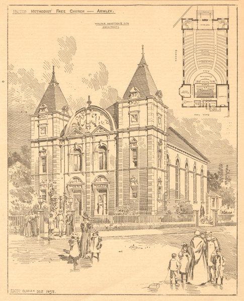 Associate Product United Methodist Free Church, Armley, Walter Hanstock Architects. Leeds 1899