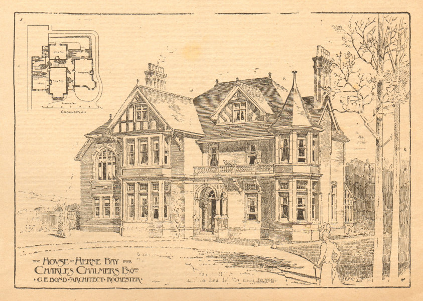 Associate Product Charles Chalmers house, Herne Bay. GE Bond Architect, Rochester. Kent 1899