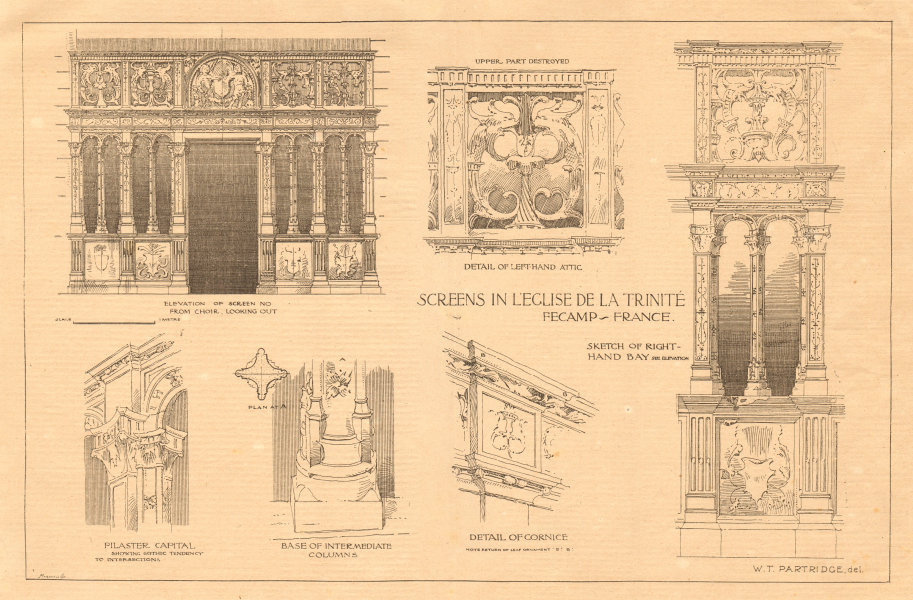 Associate Product Screens in Abbaye de la Trinité de Fécamp, Seine-Maritime. France 1899 print