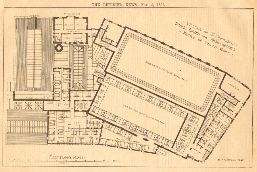 Associate Product Vestry of St Pancras, Public Baths & Wash houses. Prince of Wales Road (1) 1899