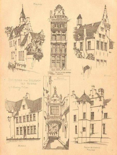 Associate Product Belgium. Maison des Bateliers, Brussels. Bruges Mechelen Palais de Justice 1900