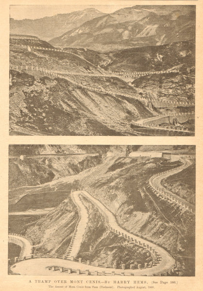 Associate Product The ascent of Mont Cenis from Susa (Piedmont). Savoie 1901 old antique print