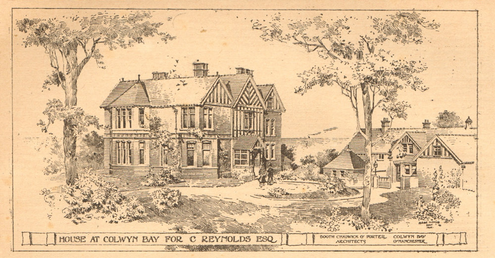 Associate Product House at Colwyn Bay for C. Reynolds. Booth Chadwick & Porter Architects 1901