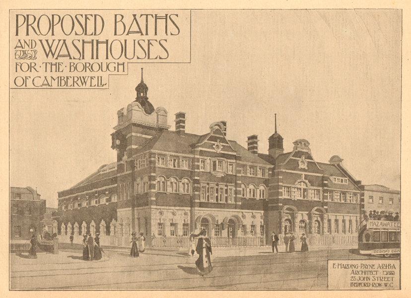 Associate Product Proposed Baths & Washhouses, Camberwell Borough, E Harding Payne Architect 1901