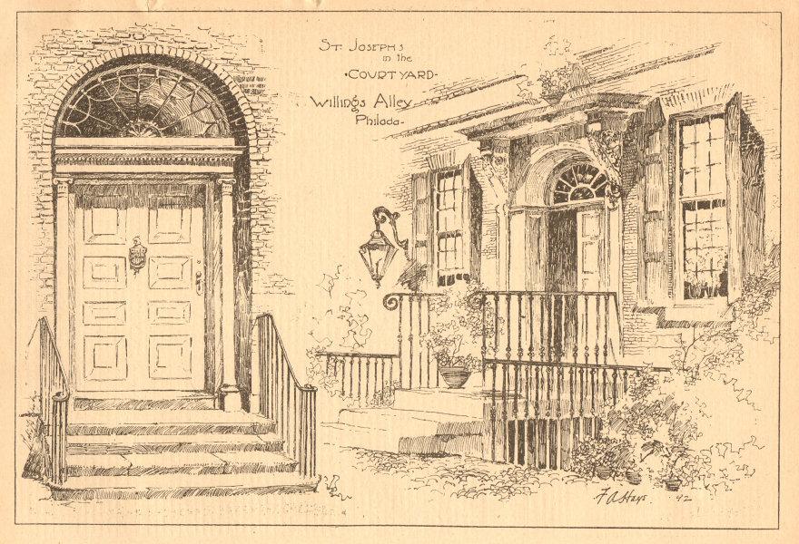Associate Product St Josephs in the Courtyard, Willings Alley, Philadelphia. Pennsylvania 1902