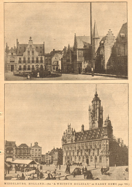 Associate Product Middelburg, Holland. Netherlands 1902 old antique vintage print picture